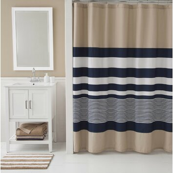 IZOD Classic Stripe Shower Curtain Reviews Wayfair