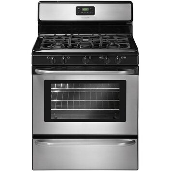 Frigidaire 4 2 cu ft gas range in stainless steel for Frigidaire armoire