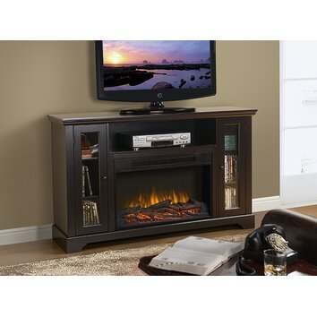 Homestar Kingwood Tv Stand With Electric Fireplace