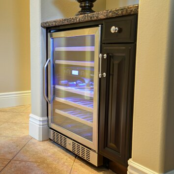 Newair 46 Bottle Dual Zone Built In Wine Refrigerator