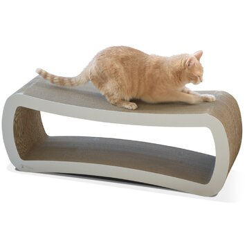 Petfusion jumbo cat scratcher lounge bed reviews wayfair for Chaise lounge cat scratcher
