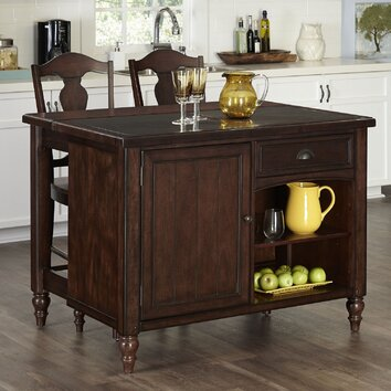 Home Styles Country fort 3 Piece Kitchen Island Set