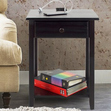 Matrix Night Owl 1 Drawer Nightstand Amp Reviews Wayfair