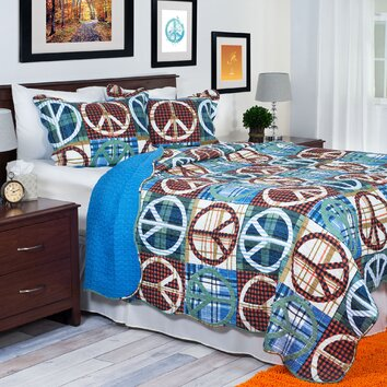 Lavish Home Peace Quilt Set Amp Reviews Wayfair