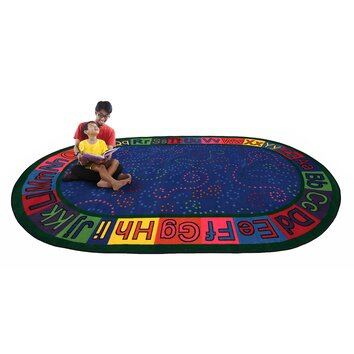 Kid Carpet Alpha Circle Time Abc Blue Area Rug Amp Reviews