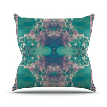 Wayfair Teal Throw Pillows : KESS InHouse Ashby Blossom Teal Throw Pillow Wayfair