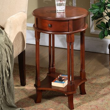 All Things Cedar Round Accent End Table Reviews Wayfair