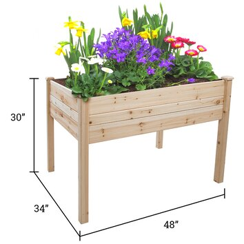 Trademark innovations rectangular raised garden planter for Wayfair garden box