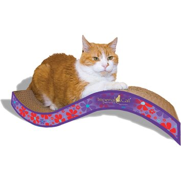 Imperial cat scratch n 39 shapes medium purrfect stretch for Chaise lounge cat scratcher