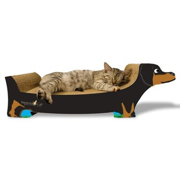 Imperial cat dachshund recycled paper scratching board for Chaise lounge cat scratcher