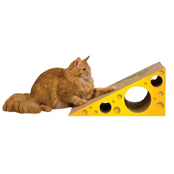 Imperial cat scratch 39 n shapes cheese recycled paper for Chaise lounge cat scratcher