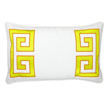 NECTARmodern Parenthetikey Embroidered Greek Key Throw Pillow & Reviews AllModern