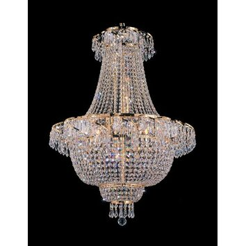 Harrison Lane French Empire 9 Light Crystal Chandelier