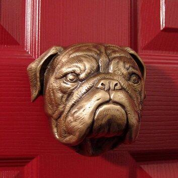 Michael healy designs bulldog door knocker reviews wayfair - Bulldog door knocker ...