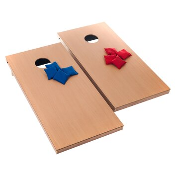 Trademark Games Official Size 10 Piece Cornhole Game Set