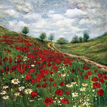 Portfolio Canvas Red Poppy Vista By Sandy Doonan Framed