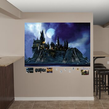 fathead harry potter hogwarts castle peel and stick wall