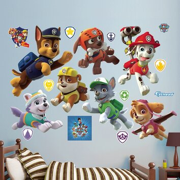 Fathead Nickelodeon Paw Patrol Puppies Peel And Stick Wall
