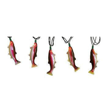 River S Edge Products 10 Light 10 Ft Rainbow Trout String