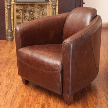 Home Loft Concepts Mcpherson Leather Club Chair Wayfair