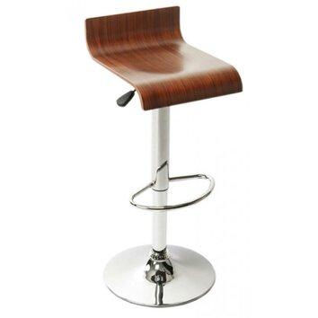Caracella wood pro adjustable bar stool wayfair uk for Tabouret bar ajustable