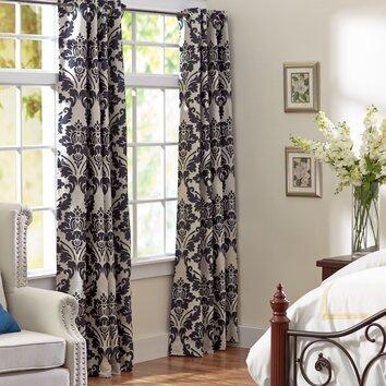 Three Posts Chateau Damask Single Curtain Panel Amp Reviews
