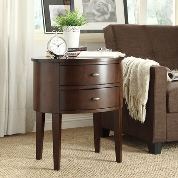 Three Posts Canterbury 2 Drawer End Table Amp Reviews Wayfair