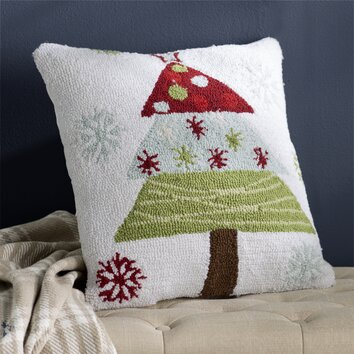 Three Posts Malta Christmas Tree Polyester Throw Pillow & Reviews Wayfair