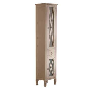 Hispania home alessandria 15 x 77 free standing linen - Freestanding bathroom linen closet ...