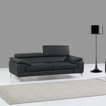 j m furniture italian leather sofa reviews allmodern. Black Bedroom Furniture Sets. Home Design Ideas