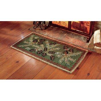 Plow Amp Hearth Hooked Wool Pine Cone Rug Amp Reviews Wayfair