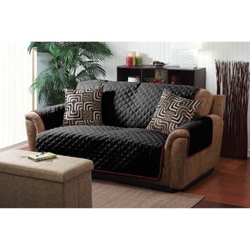 Simplify Double Sided Loveseat Cover Amp Reviews Wayfair