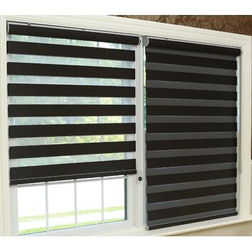 Best home fashion inc premium blackout duo roller shade for Roll up screens for windows