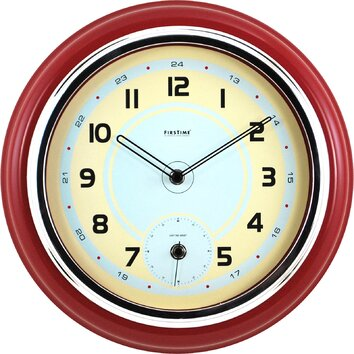 "FirsTime 12.5"" Classic Kitchen Wall Clock & Reviews"