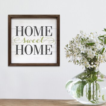 Stratton Home Decor Home Sweet Home Framed Textual Art Wayfair