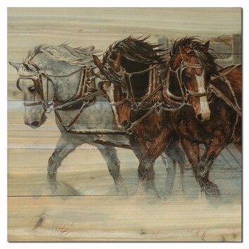 WGI GALLERY Winter Wind Horses by Chris Cummings Painting ...