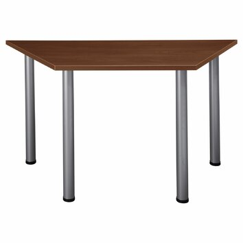 Bush business furniture aspen trapezoid training table for Trapazoid table
