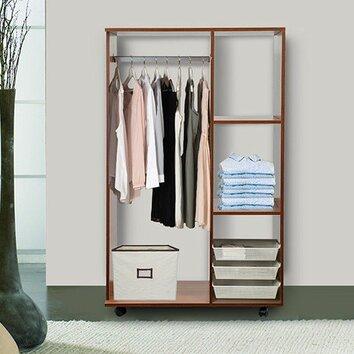 Homcom wardrobe reviews wayfair uk for Furniture to hang clothes
