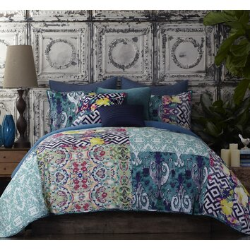 Tracy porter florabella comforter set reviews wayfair for Bella flora double chaise lounge