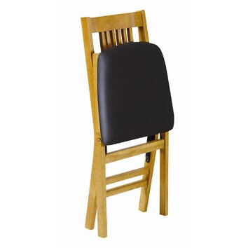 stakmore true mission wood folding chair reviews wayfair