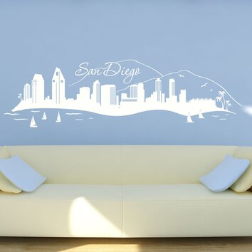 style and apply san diego skyline wall decal wayfair