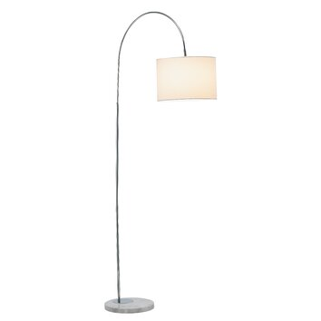 Adesso grace 685quot arched floor lamp reviews wayfair for Wayfair adesso floor lamp