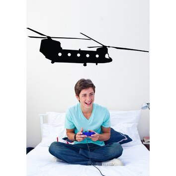 Wallhogs Haynes Silhouette Helicopter Xii Cutout Wall