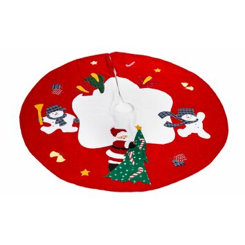 Imperial Home Santa and Frosty Friends Christmas Tree Skirt