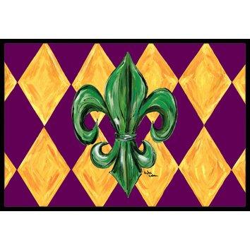 Caroline 39 S Treasures Mardi Gras Fleur De Lis Purple Green And Gold Doormat Reviews Wayfair