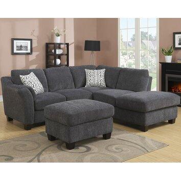 Clayton 98 39 39 Sectional Sofa Reviews Joss Main