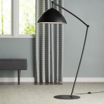 Langley street reitveld adjustable floor lamp reviews for Wayfair industrial lamp