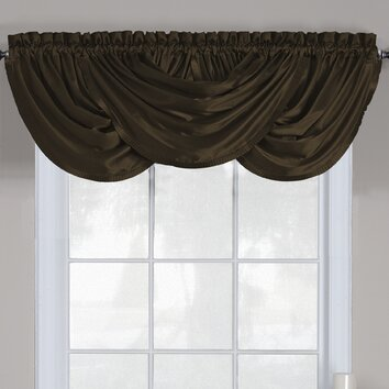 waterfall valance pattern elrene home fashions versailles 52 quot waterfall curtain valance reviews wayfair 3129