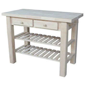 international concepts kitchen island with butcher block