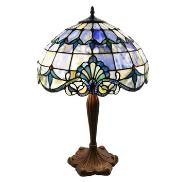 Trent austin design hermosa beach stained 24 table lamp for Lamp shades austin